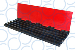 Cable Guard Red Floor Ramp 5 Channel Centre RF5 31 open WEB