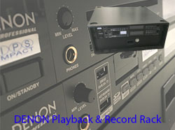 Denon Playback  Record Rack